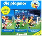 Die Playmos - Die große Fußball-Box, 3 Audio-CDs Cover