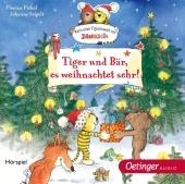 Tiger und Bär, es weihnachtet sehr!, 1 Audio-CD Cover