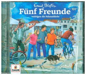 Fünf Freunde verfolgen die Fahrraddiebe, 1 Audio-CD