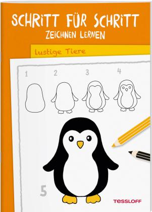 Schritt für Schritt Zeichnen lernen Lustige Tiere