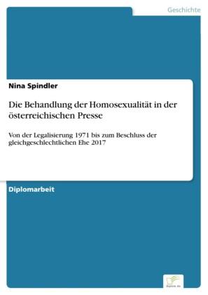 Die Behandlung der Homosexualität in der österreichischen Presse
