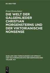Die Welt der Galgenlieder Christian Morgensterns und der viktorianische Nonsense