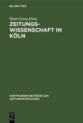 Zeitungswissenschaft in Köln