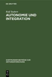 Autonomie und Integration