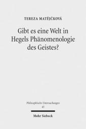Gibt es eine Welt in Hegels Phänomenologie des Geistes?