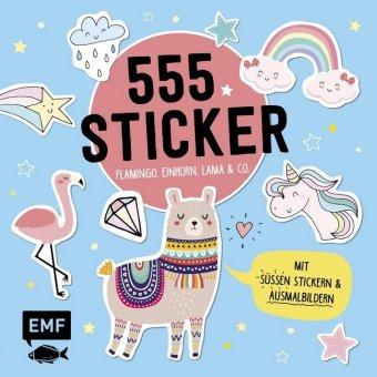 555 Sticker - Flamingo, Einhorn, Lama und Co.