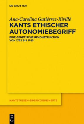 Kants ethischer Autonomiebegriff