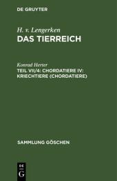 Chordatiere IV: Kriechtiere (Chordatiere)