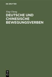 Deutsche und chinesische Bewegungsverben