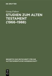 Studien zum Alten Testament (1966-1988)