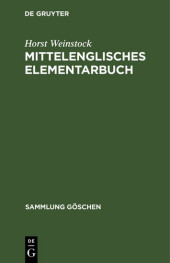 Mittelenglisches Elementarbuch