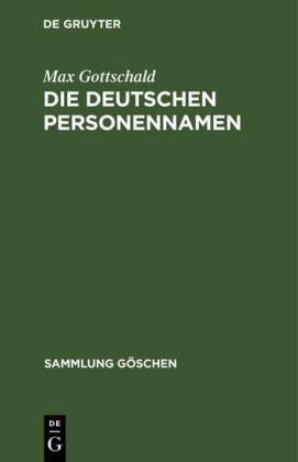 Die Deutschen Personennamen
