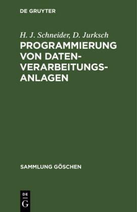 Programmierung von Datenverarbeitungsanlagen