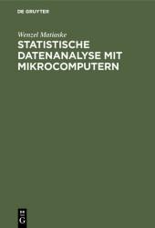 Statistische Datenanalyse mit Mikrocomputern