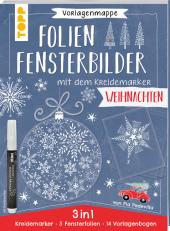 Vorlagenmappe Folien-Fensterbilder mit dem Kreidemarker - Weihnachten Cover
