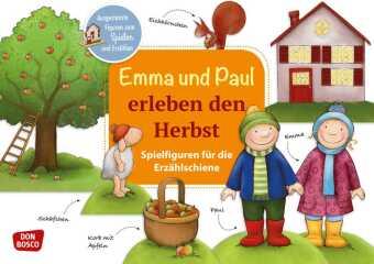 Emma und Paul erleben den Herbst. Spielfiguren für die Erzählschiene