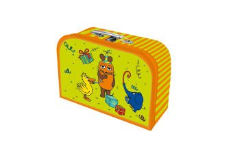 """Trötsch, Kinderkoffer """"Die Maus"""",Pappkoffer, Koffer aus Pappe, Geschenk Verpackung, Gutschein Verpackung,Spielkoffer, Me"""