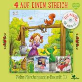 4 auf einen Streich - Meine Märchenpuzzle-Box (Kinderpuzzle)