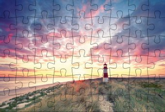 Puzzle-Postkarte Sylt