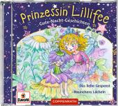 Prinzessin Lillifee - Gute-Nacht-Geschichten - Das liebe Gespenst & Rosinchens Lächeln, 1 Audio-CD Cover