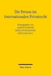 Die Person im Internationalen Privatrecht