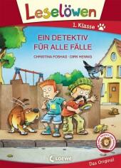 Leselöwen 1. Klasse - Ein Detektiv für alle Fälle, Großbuchstabenausgabe Cover
