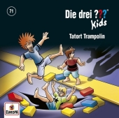Die drei ??? Kids - Tatort Trampolin, 1 Audio-CD Cover