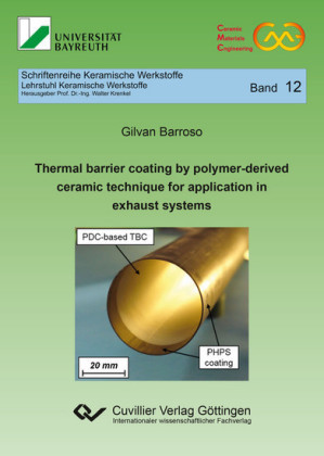 Thermal barrier coating by polymer-derived ceramic technique for application in exhaust systems