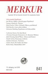 MERKUR Gegründet 1947 als Deutsche Zeitschrift für europäisches Denken - 2019-6