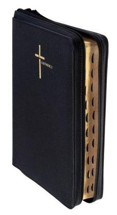 Luther21, Großausgabe - Lederfaserstoff schwarz, mit Reißverschluss