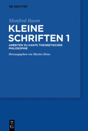 Manfred Baum: Kleine Schriften. Band 1