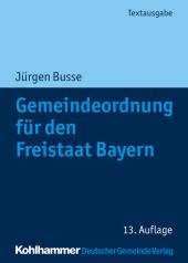 Gemeindeordnung für den Freistaat Bayern Cover