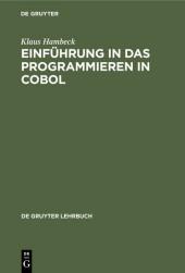 Einführung in das Programmieren in COBOL