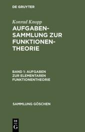 Aufgaben zur elementaren Funktionentheorie