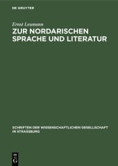 Zur nordarischen Sprache und Literatur