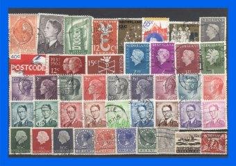 100 verschiedene Briefmarken BeNeLux-Staaten