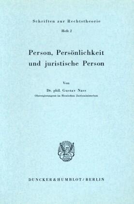 Person, Persönlichkeit und juristische Person.