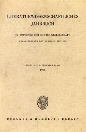 Literaturwissenschaftliches Jahrbuch.