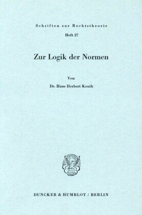 Zur Logik der Normen.