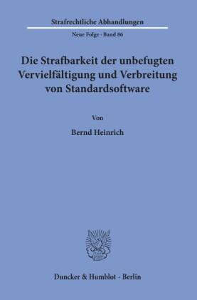 Die Strafbarkeit der unbefugten Vervielfältigung und Verbreitung von Standardsoftware.