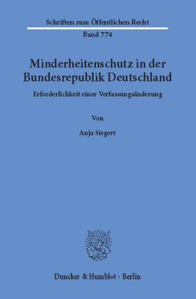 Minderheitenschutz in der Bundesrepublik Deutschland.