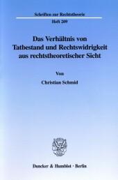 Das Verhältnis von Tatbestand und Rechtswidrigkeit aus rechtstheoretischer Sicht.