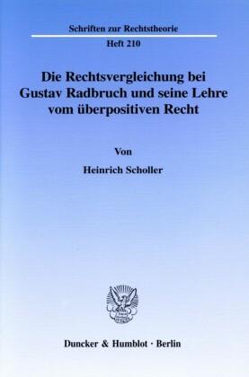 Die Rechtsvergleichung bei Gustav Radbruch und seine Lehre vom überpositiven Recht.
