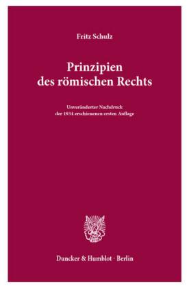 Prinzipien des römischen Rechts.