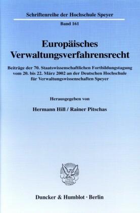Europäisches Verwaltungsverfahrensrecht.