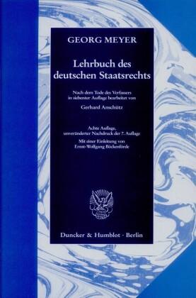 Lehrbuch des deutschen Staatsrechts.