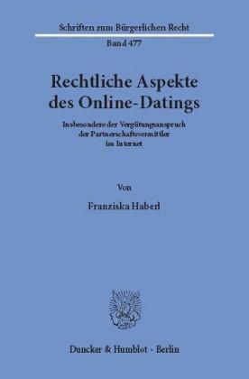 Rechtliche Aspekte des Online-Datings.