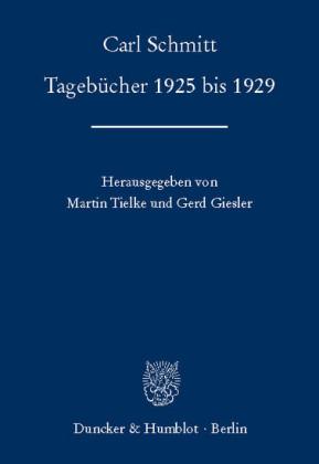 Tagebücher 1925 bis 1929.