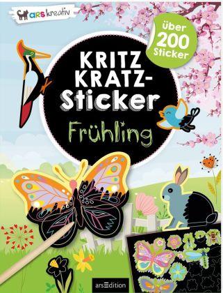 Kritzkratz-Sticker Frühling