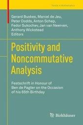 Positivity and Noncommutative Analysis